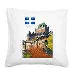2decoupeDrapeau Square Canvas Pillow