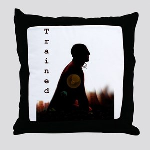 Trained slave Throw Pillow