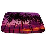 Purple Tropical Sunset 1 Bathmat