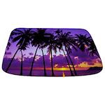 Purple Tropical Sunset 3 Bathmat