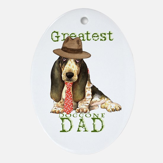 Basset Dad Oval Ornament