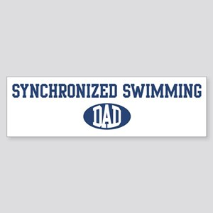 Synchronized Swimming dad Bumper Sticker