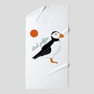 Stud Puffin Beach Towel
