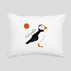 Stud Puffin Rectangular Canvas Pillow