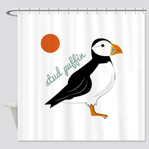 Stud Puffin Shower Curtain