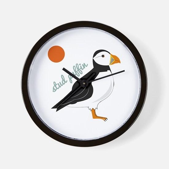 Stud Puffin Wall Clock