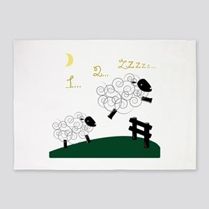 Counting Sheep 5'x7'Area Rug
