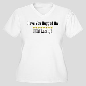 Hugged MBA Women's Plus Size V-Neck T-Shirt