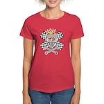 auto racing skull Women's Dark T-Shirt