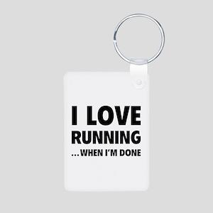 I love running... when I'm done Aluminum Photo Key