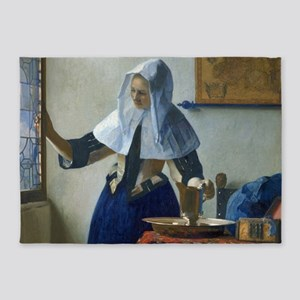 Young Woman With A Pitcher Of Water By Johannes Ve