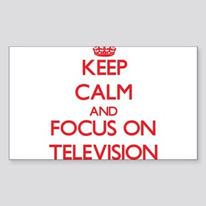 Keep Calm and focus on Television Sticker