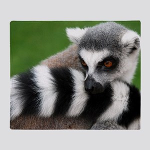 Lemur Animal Throw Blanket