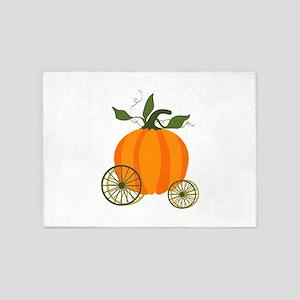 Pumpkin Carriage 5'x7'Area Rug