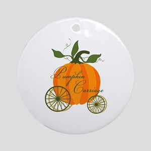 Pumpkin Carriage Ornament (Round)