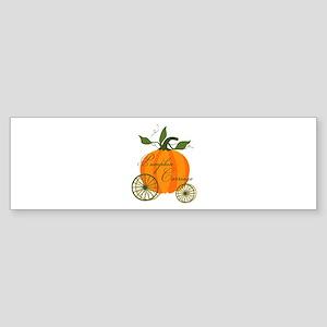 Pumpkin Carriage Bumper Sticker