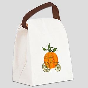 Pumpkin Carriage Canvas Lunch Bag
