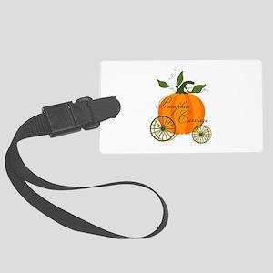 Pumpkin Carriage Luggage Tag