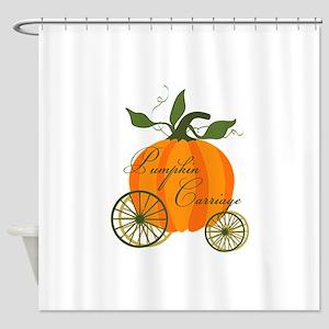 Pumpkin Carriage Shower Curtain
