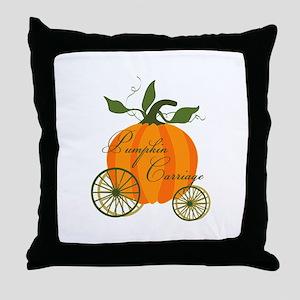 Pumpkin Carriage Throw Pillow