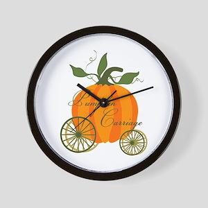 Pumpkin Carriage Wall Clock