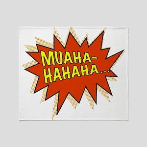 Muahahahaha Evil Laugh Throw Blanket