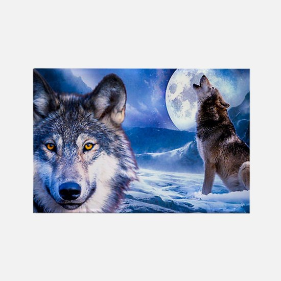 Wolf decor Rectangle Magnet