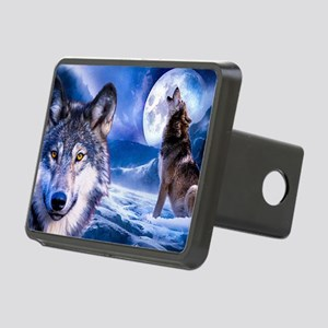 Wolf decor Rectangular Hitch Cover