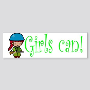 Girl Soldier Bumper Sticker