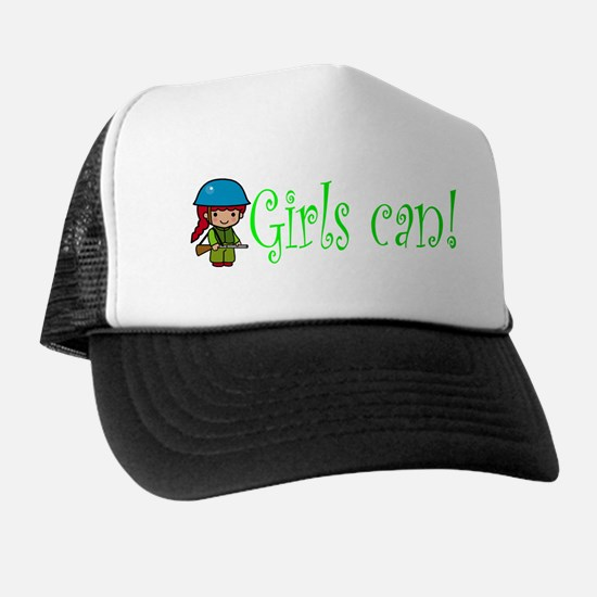Girl Soldier Trucker Hat