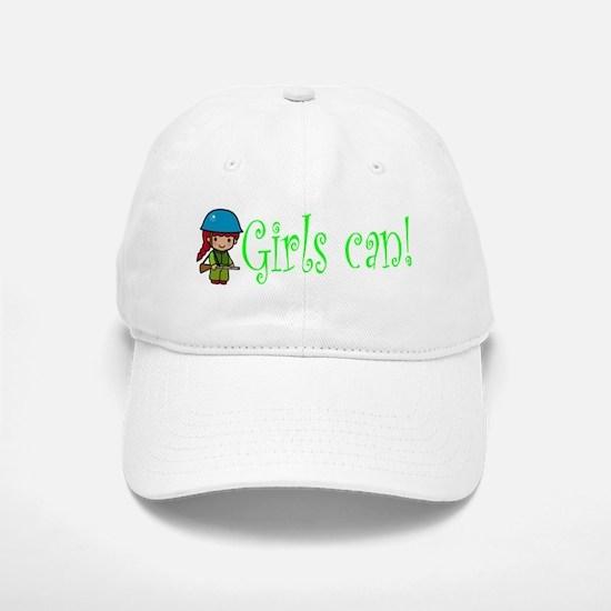 Girl Soldier Baseball Baseball Cap