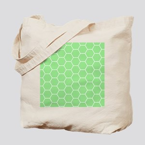 Spring Green Honeycomb Geometrical Pattern Tote Ba