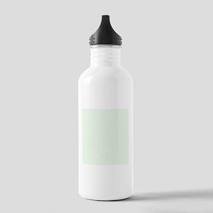 White Spring Green Tiny Polka Dots Water Bottle