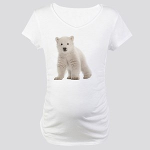 Polar bear cub Maternity T-Shirt