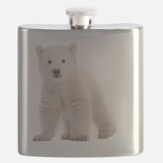 Polar bear cub Flask