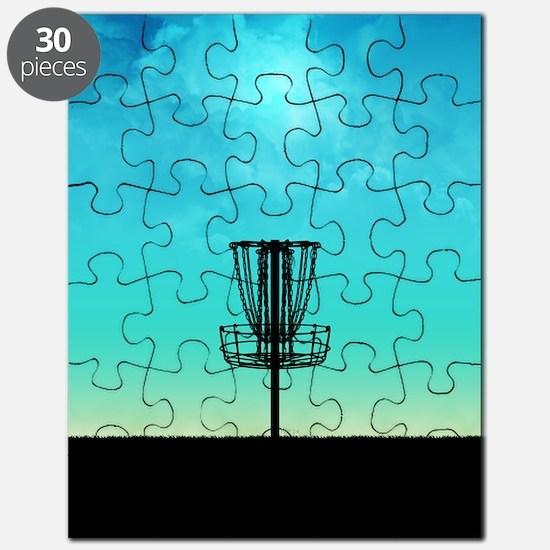 Disc Golf Basket Puzzle