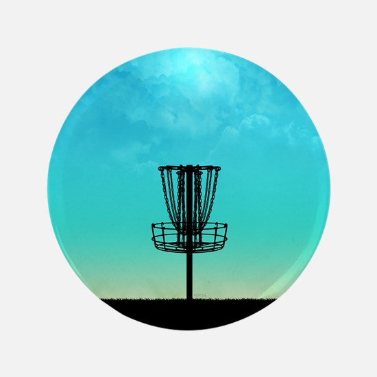 "Disc Golf Basket 3.5"" Button"