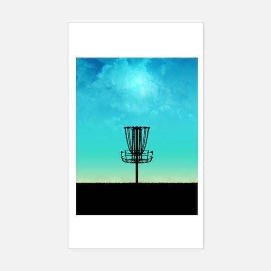 Disc Golf Basket Decal