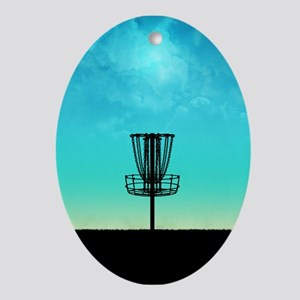 Disc Golf Basket Ornament (Oval)