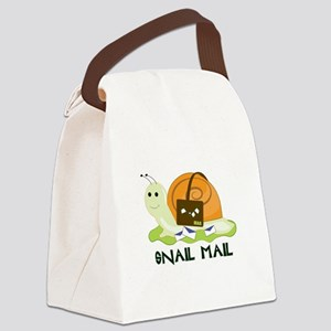 Snail Mail Canvas Lunch Bag