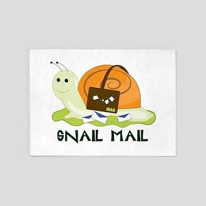 Snail Mail 5'x7'Area Rug