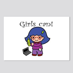 Girl Computer Professional Postcards (Package of 8