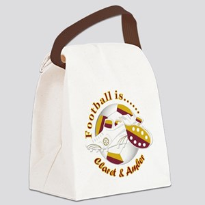 Football Colors Claret and Amber Canvas Lunch Bag