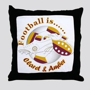 Football Colors Claret and Amber Throw Pillow