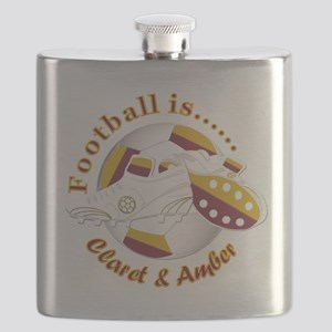Football Colors Claret and Amber Flask