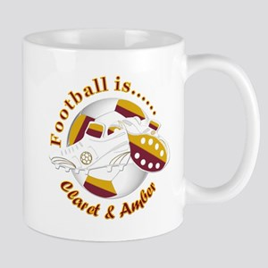 Football Colors Claret and Amber Mugs