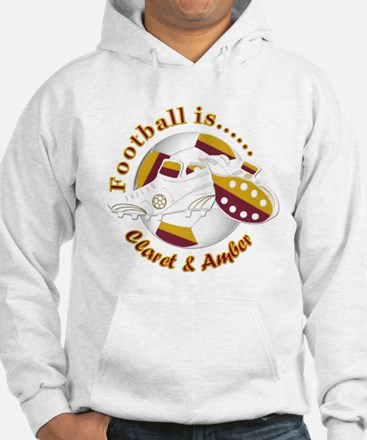 Football Colors Claret and Amber Jumper Hoody