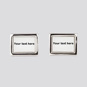 Template Your Text Here Rectangular Cufflinks