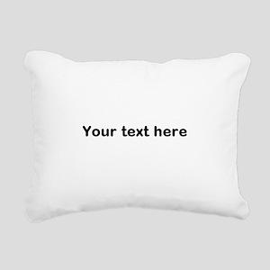 Template Your Text Here Rectangular Canvas Pillow