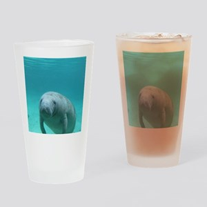 Seacow or Manatee Swimming Undereat Drinking Glass